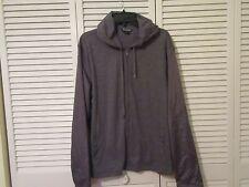 Michael Kors Jacket,Hoodie, L, NWT, Grey, full zipper,LS,cotton,nylon sleeves,