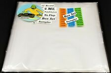 10 Box Set Outer Sleeves Sampler LP Vinyl Record Small Large XL 2XL 4mil No Flap