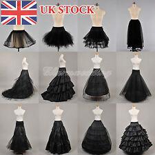 12 Styles Black Wedding Bridal Petticoat Underskirt Crinoline Slips(UK STOCK)