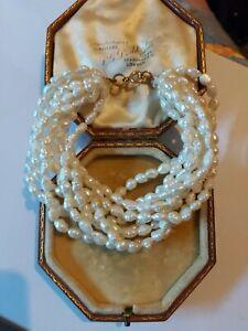Vintage Multistrand Freshwater Pearl 9ct Gold Clasp Bracelet