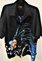 Mens Shirts Dragonfly Bob Marley Reggae Music 2XL Big Tall Screen Print Neon XXL