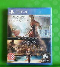 Assassin's Creed Origins + Odyssey PS4 PlayStation 4 ITALIANO NUOVO SIGILLATO