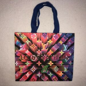 Authentic Louis Vuitton S/M Prism Holiday 2019 Shopping Bag 10 x 8 1/4 x 6 RARE