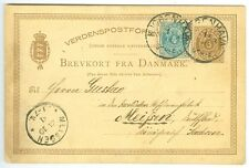 Denmark: Ps/postcard to Germany 1881, arr canc.
