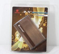 Coolmax 2.5-Inch Aluminum SATA Hard Drive Enclosure HD-250BZ-U2 Copper USB 2.0
