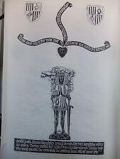 "Brass rubbing HAWLSLEY NORTHAMPTONSHIRE, THOMAS KNYGHTLEY 1516 - 60x30""  .. 89/2"