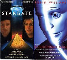 Stargate (VHS) & Bicentennial Man (VHS, 2000) - 2 VHS