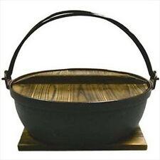 """Cast Iron Shabu Shabu Cooking Pot Sukiyaki Nabe 9.5"""" 821-24 S-1805"""