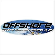 Offshore Where The Reel Fishing Decal Sticker Car Truck Boat Offshore Fishing