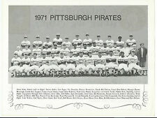 1971 Pgh Pirates, 8.5 x 11, Team Print, w/Iron City Beer, Song, N L Playoffs