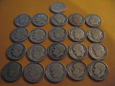 ROLL 1949 P KEY DATE Silver Roosevelt Dimes Circulated 50 Coins FREE SHIPPNG
