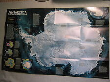 ANTARCTICA MAP NEW AGE OF EXPLORATION National Geographic February 2002 MINT