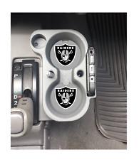 OAKLAND RAIDERS RUBBER CAR COASTERS SET (2) NFL