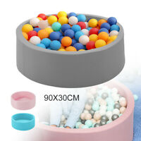 Soft Balls Pit for Baby Ball Pool+Pad Round 90x30cm Baby Toys Toddler Foam UK