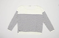 Lacoste Womens Size 20 Striped Cotton Blend White Jumper (Regular)