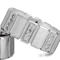 925 Silber Trauringe Eheringe Verlobungsringe mit Gravur und Swarovski Stein C9