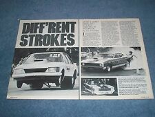 """1985 Info Article on Pro Stock Racing In Australia """"Diff'rent Strokes"""""""