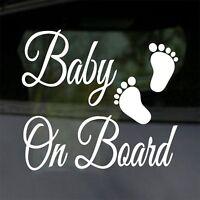 Baby On Board Funny Car Child Children Window Bumper Sticker Vinyl Decal