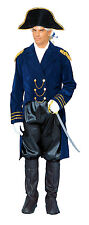 ADULT NAPOLEON GENERAL BONAPARTE CAPTAIN COLONIAL MENS COSTUME JACKET HAT BLUE
