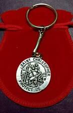 Saint Christopher Medallion Keyring TRAVEL