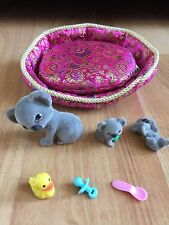 Puppy in My Pocket & Friends Koala Family Cuddly Cribs playset rare retired