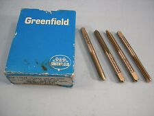 Qty of 4 Greenfield 12-24 NC Taps HSS GH3 HSS 2 Flute Spiral Point Bottom