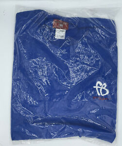 Platinum FUBU Embroidered Logo T Shirt Mens Large Blue