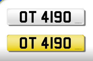 OT 4190 CHERISHED NUMBER PERSONAL PLATE