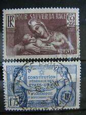 FRANCE oblitérés  n° 356 et 357