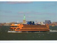 POSTCARD OF STATEN ISLAND FERRY FROM NEW YORK CITY