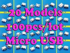 20 models 100pcs/lot Charging Port Connector Micro Usb Jack For Smart Phone