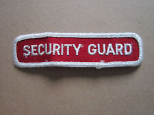 Security Guard Woven Cloth Patch Badge (L1K)
