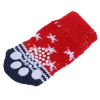 Paw Print Pet Dog Socks w/ Non-slip Bottom - Approx. 2.7 Inch Long x 1.5 In N5O7