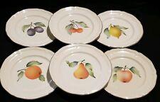 "Villeroy & Boch Porcelain Salad Plates Set of 6 Pattern Frutta 8"" D Mint"
