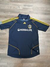 Adidas LA Galaxy David Beckham Soccer Jersey MLS Sewn Patches SZ L