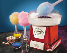 COTTON CANDY MAKER MACHINE ~HARD & SUGAR-FREE NOSTALGIA ELECTRICS PCM805RETRORED