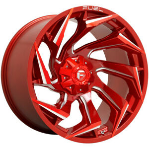 "Fuel D754 Reaction 20x9 5x5.5""/5x150 +1mm Red/Milled Wheel Rim 20"" Inch"