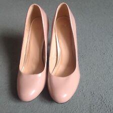 NWOB ASOS nude beige patent synthetic leather high heel court shoes EU40 UK7
