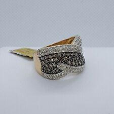 Diamond Right Hand Ring 14k Yellow Gold Chocolate