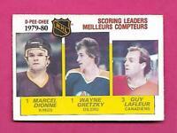 1980-81 OPC # 163 OILERS WAYNE GRETZKY SCORING  LEADERS EX-MT CARD (INV# D3412)