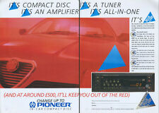 Pioneer  Blue Chip DEH-66 All In One CD 1988  Magazine 2 Page Advert #3882