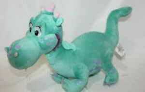 "Disney Store Sofia Crackle Dragon Plush Dinosaur Green Blue  Stuffed Toy 16"""
