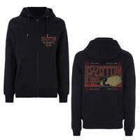 Led Zeppelin - Zeppelin & Smoke -  Official Black Zip Hoodie