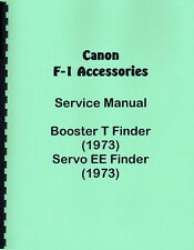 Canon F-1 Booster T & Servo EE Finders Service & Repair Manual