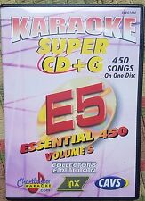 CHARTBUSTER ESSENTIALS KARAOKE SCDG E5, 450 SONGS, CAVS SUPER CD+G