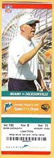2007 MIAMI DOLPHINS vs JACKSONVILLE JAGUARS Football Ticket CAM CAMERON