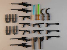 Guns for Lego Minifigures. Lot of 26. New!! Sniper Rifle Weapons Accessories toy