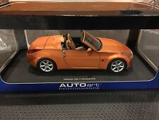 AUTOart NISSAN 350 Z ROADSTER FAIRLADY 1/18 ORANGE No Nismo - Free USA Shipping