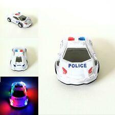 Kinder Spielzeug 3D LED Selbstfahrend Polizei Auto Police Car Licht u. Sound