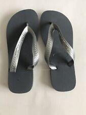 Havaianas Flip Flops Top Metallic Sandals Silver NEW 35/36